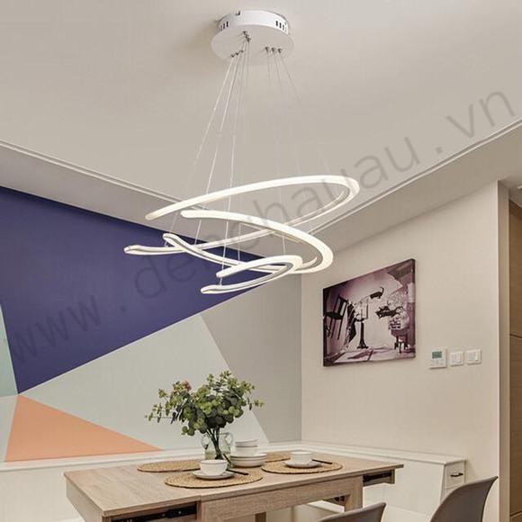 Đèn thả LED hiện đại 3 chế độ màu