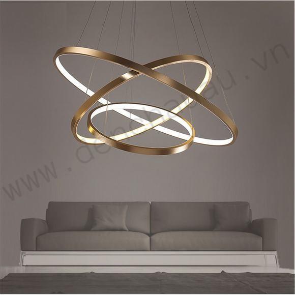 Đèn thả LED 3 vòng vàng