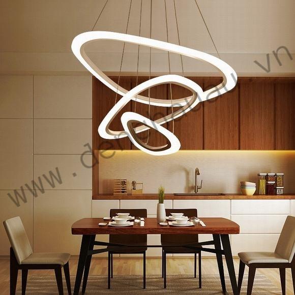 Đèn thả LED 3 vòng méo